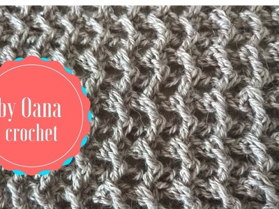 Crochet arrow stitch 2 - by Oana
