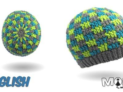 Crochet hat - Beanie with Blocks
