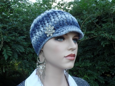 CROCHET How To #Crochet Ladies Ribbed Newsboy Hat #TUTORIAL #335