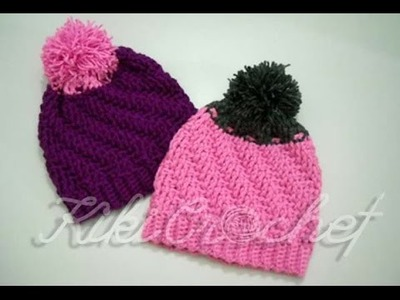 Crochet Staircase Stitch Slouchy Hat