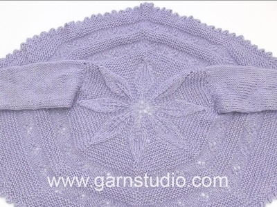 DROPS Knitting Tutorial:  How to start the circle jacket in children DROPS 27-12