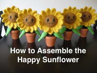 How to Assemble the Happy Sunflower Amigurumi