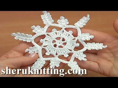 How to Crochet 6-Pointed Showflake Tutorial 27