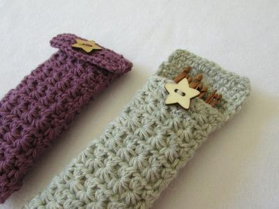How to crochet a star stitch crochet hook case. holder