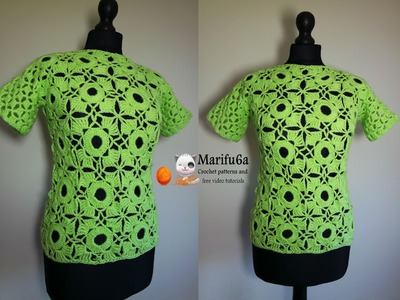 How to crochet lime top all sizes free tutorial by marifu6a
