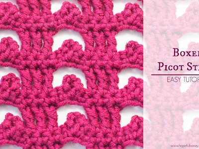 How To: Crochet The Boxed Picot Stitch - Easy Tutorial