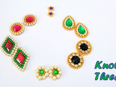 How to make Earring Studs. Patches at Home | Tutorial !!