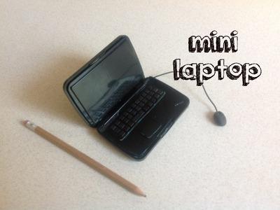 Miniature laptop for doll. #Dollhouse.