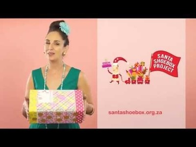 Suzelle DIY 30' how to pledge and make Santa Shoebox