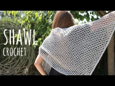 Tutorial Super Easy Lace Stitch Shawl | Crochet