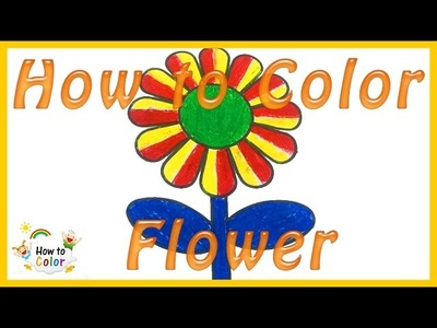 How to Color Flower - Flower Coloring Pages - #Flower Coloring Book - #HowToColor.#3