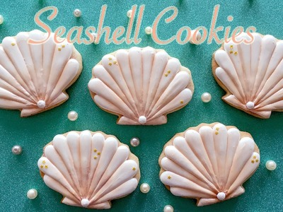 How To Decorate Seashell Cookies!