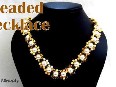 How to make a Beaded Necklace at Home | Tutorial !!