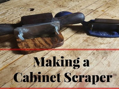 How to Make a Cabinet Scraper Like a Stanley 80 or 81 From White Oak and Walnut