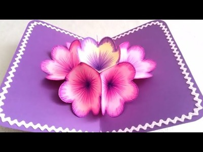 How to Make A Flower Pop up Card Creative Arts