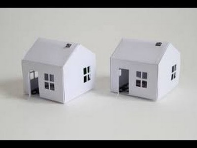 How to make a Paper House Without Tape or Glue | Origami | Cardboard Paper |