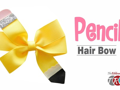 How to Make a Pencil Hair Bow - TheRibbonRetreat.com