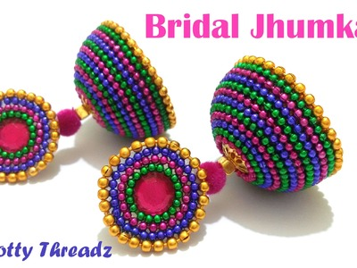 How to make Bridal Jhumkas using Ball Chain - Tutorial 2