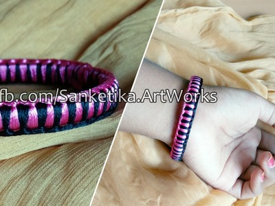 How To Make Criss Cross Weaving Silk Thread Bangles - DIY Fancy Bangles