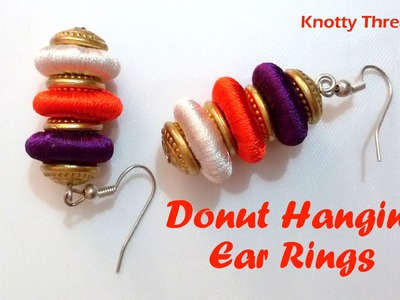 How to make Donut Hanging Earrings at Home | Tutorial !!
