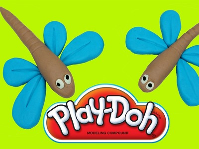 How To Make Dragonfly With Play Doh - Creative Fun For Kids - Toys For Children Education Play doh