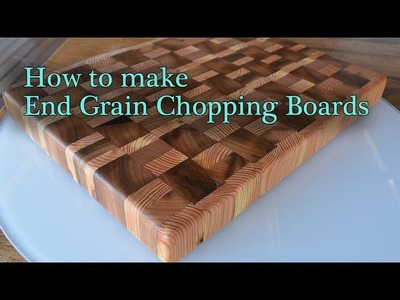 How to make end grain cutting boards. chopping boards - JordsWoodShop