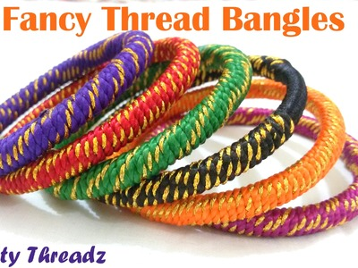 How to make Fancy Thread Bangles -  Simple Wrapping at Home | Tutorial