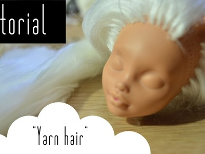 How to make hair for dolls out of yarn & reroot with yarn|Tutorial | NANArt