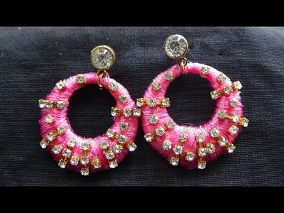 How to Make Silk Thread Ear Rings