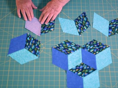 How to mark and sew tumbling blocks