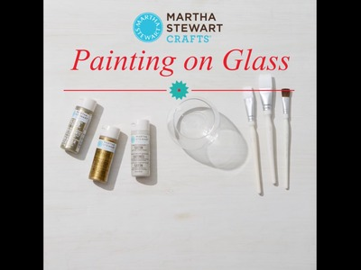 How To Paint Glass Votives with Martha Stewart Crafts