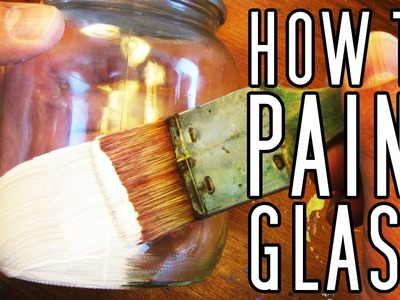 HOW TO Paint On GLASS (Bottles, Pots, Jars, Etc) #Painting #ArtsAndCrafts