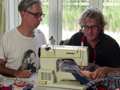 How to steek a Cardigan by ARNE&CARLOS. Part 2 preparing and cutting the front.
