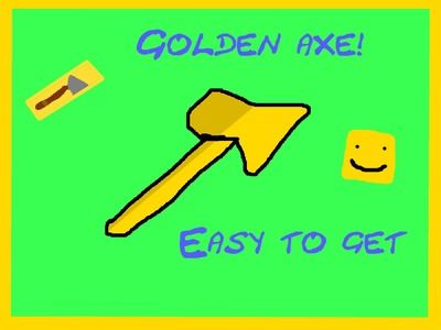 LUMBER TYCOON 2 HOW TO GET GOLD AXE!   ROBLOX   EASTER EGG