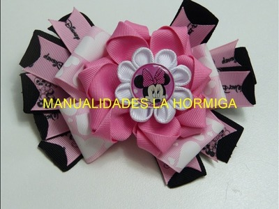Moños pequeños flores  faciles en liston para lazos faciles, Video 538,How To Make A Hair Bow