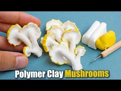 Polymer Clay Mushroom Sculpture. How To Tutorial