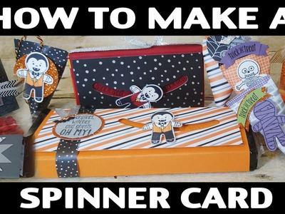 Stamping Jill - How To Make Spinner Card | Halloween Treat Idea