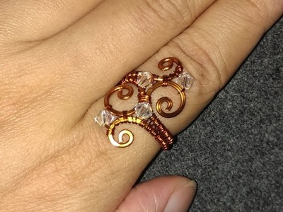 Wire Jewelry Lessons - DIY - handmade jewelry tutorials - How to make Waves Ring