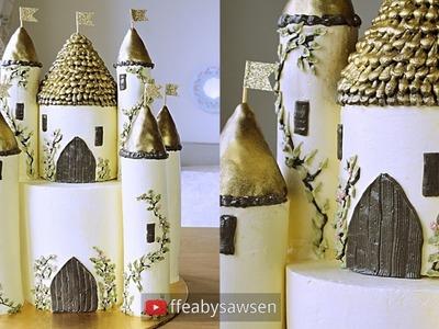 Castle cake tutorial part 1 - how to make a 3D buttercream Disney Princess style fairytale castle