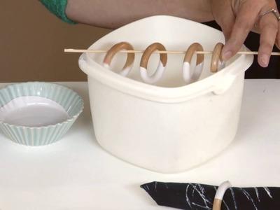 DIY Crafting: How To Dip Dye Napkin Rings