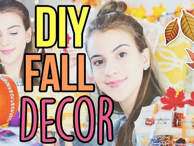 DIY Tumblr Fall Room Organization & Decor 2016! How to Make Your Room Cozy for Fall!