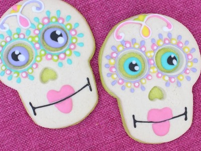Halloween Day of the Dead Cookies - how to make skull cookies