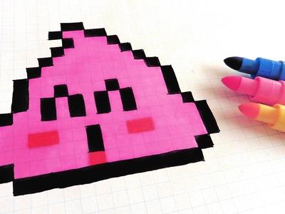 Handmade Pixel Art - How To Draw Pink Poop - Dr Slump  #pixelart