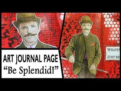 How to: Art Journal Page - Splendid