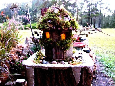 How To Create A Hypertufa Fairy House Little Cedar Shingles In Ga.