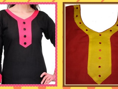 How To Cut And Stitch Designer Curved V Neck With Long Sweet Heart And Piping On Neck Line