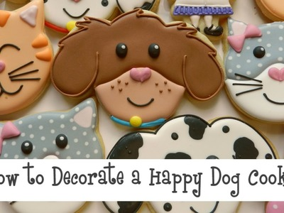 How to Decorate a Happy Dog Cookie