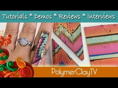 How to do polymer clay bargello technique with mylar foils