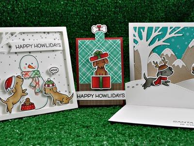 How to make 3 Happy Howlidays cards