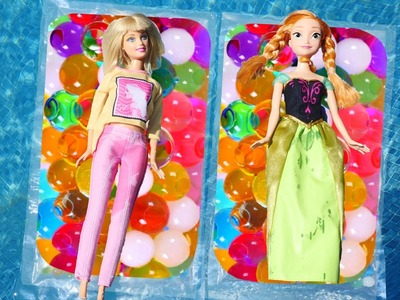 How To Make a Barbie Doll Pool or Bathtub Float using Orbeez   DIY Crafts for Kids with DCTC